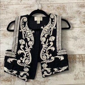 H&M Conscious Exclusive Embroidered Vest Size 6